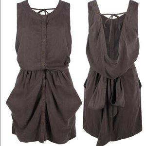 All Saints Aviator Dress in Ebony - 6